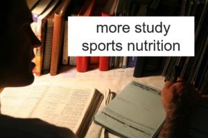 スポーツ栄養を勉強