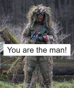 You are the man!