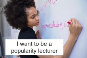 人気講師になりたい