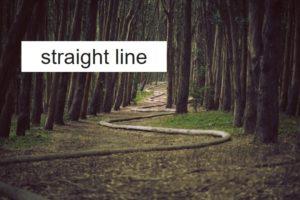 線をまっすぐ引く