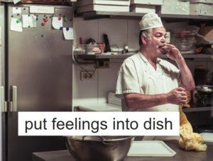 料理に想いを込める