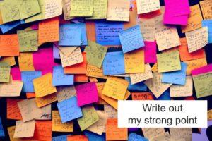 自分の強みを書き出す