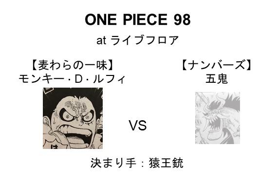 【麦わらの一味】モンキー・D・ルフィ VS 【ナンバーズ】五鬼