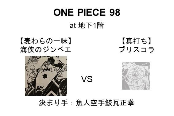 【麦わらの一味】海侠のジンベエ VS 【真打ち】ブリスコラ